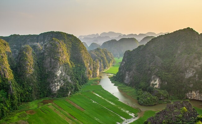 sunset in vietnam 6