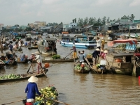 Day 5: Cai Be Floating Market - Ho Chi Minh Airport - Hanoi (B)