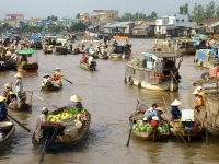 Day 12: Floating Market - Ho Chi Minh City - Departure (B)